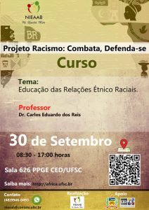 Curso: 'Educação nas Relações Étnico-Raciais' - CED